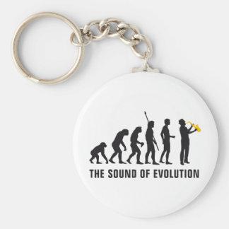 evolution jazz basic round button keychain