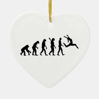 Evolution jazz dancing ceramic ornament