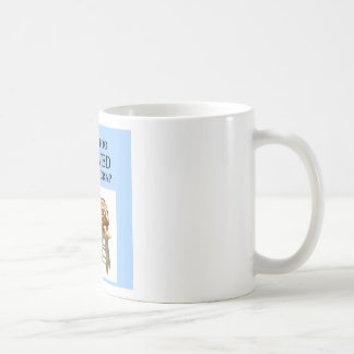 evolution joke classic white coffee mug