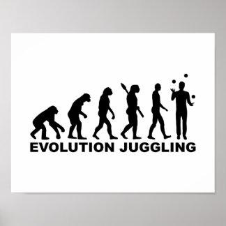 Evolution Juggling Poster