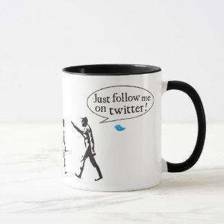 Evolution Just follow on to twitter me Mug