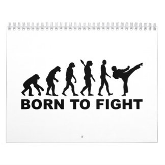 Evolution Karate Born to fight Calendar