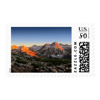 Evolution Lake and Valley Sunset - Sierra Postage