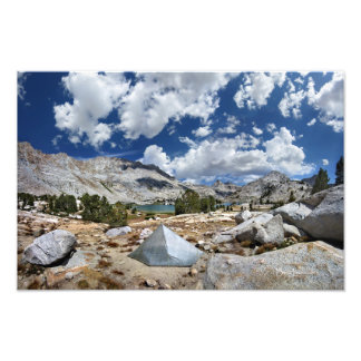 Evolution lake Camp - John Muir Trail Photographic Print