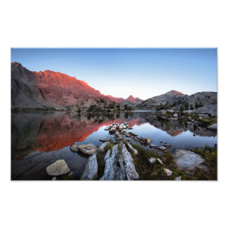 Evolution Lake Sunset Alpenglow - John Muir Trail Photo Print