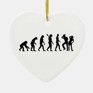 Evolution line dance ceramic ornament