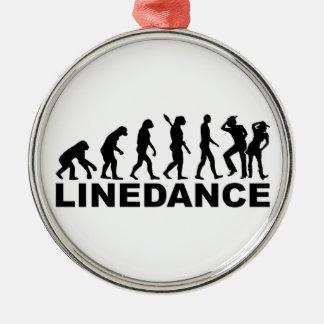 Evolution linedance metal ornament