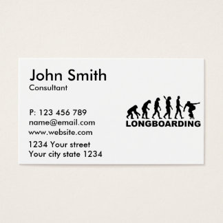 Evolution Longboarding Business Card
