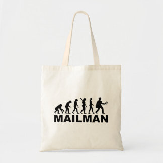 Evolution mailman tote bag