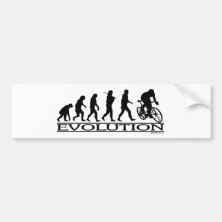 Evolution Male Cyclist Bumper Sticker