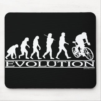 Evolution Male Cyclist Mouse Pad