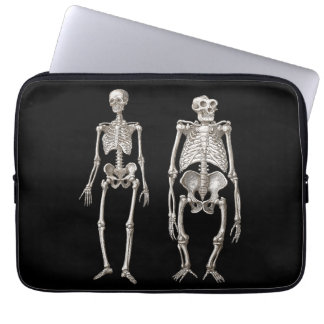 Evolution Man and Ape Skeletons Laptop Sleeve