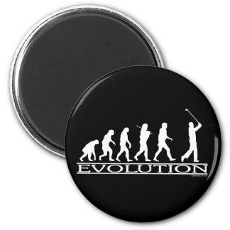 Evolution - Man - Golf 2 Inch Round Magnet
