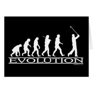 Evolution - Man - Golf Greeting Card