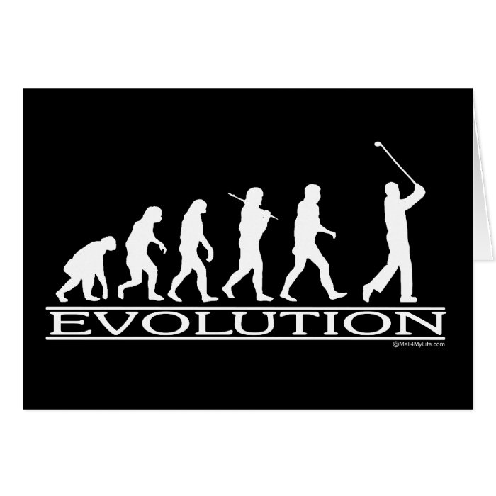 Evolution - Man - Golf Card