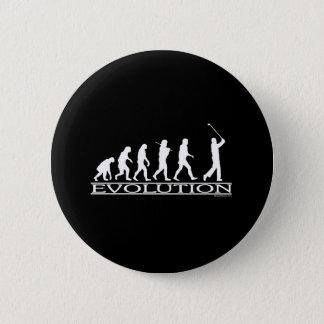 Evolution - Man - Golf Pinback Button