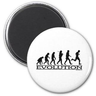 Evolution - Man Running 2 Inch Round Magnet