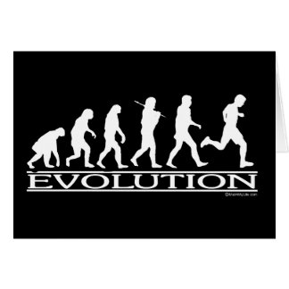 Evolution - Man Running Greeting Card
