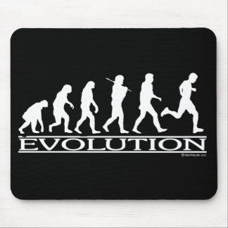 Evolution - Man Running Mouse Pad