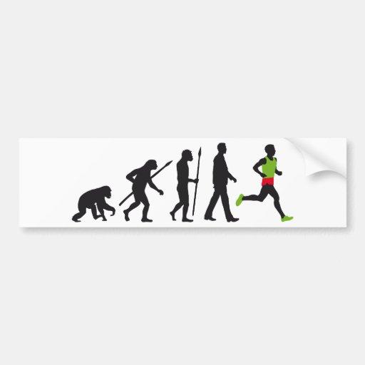 Evolution marathon more runner