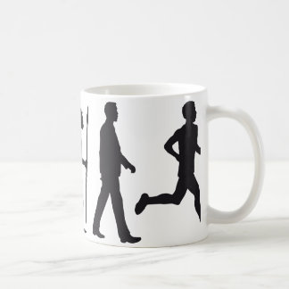 Evolution marathon more runner coffee mug