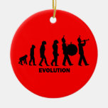 evolution marching band Double-Sided ceramic round christmas ornament