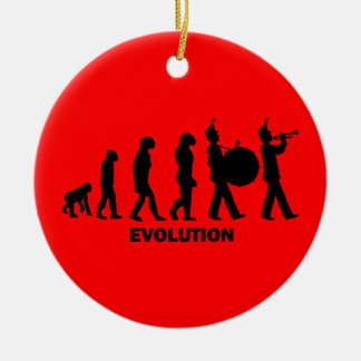 evolution marching band christmas tree ornaments