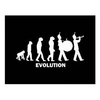 evolution marching band postcard