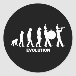 evolution marching band stickers