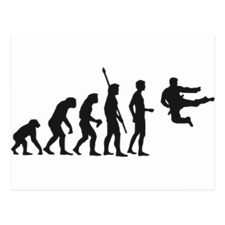 evolution martial arts tarjeta postal