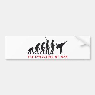evolution martially kind bumper sticker