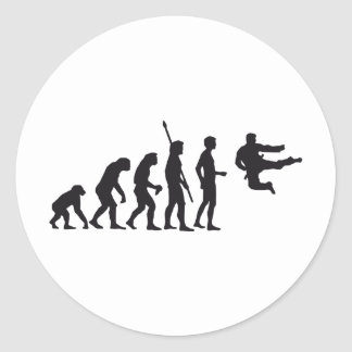 evolution martially kind classic round sticker