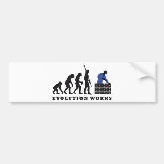 evolution mason bumper sticker
