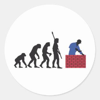 evolution mason classic round sticker