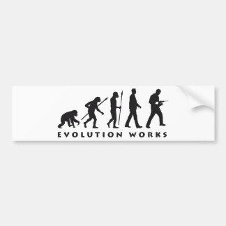 evolution mason with drill hammer bumper sticker