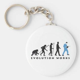 evolution mason with drill hammer keychain