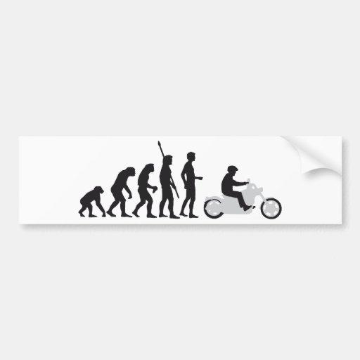 evolution more biker bumper sticker