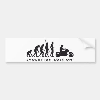 evolution more biker bumper sticker
