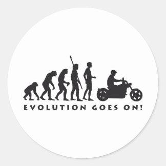 evolution more biker classic round sticker