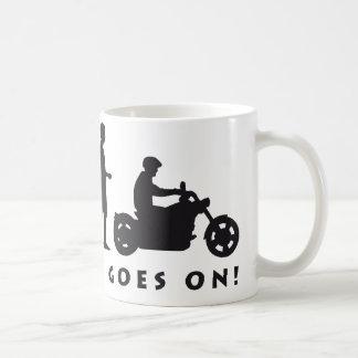 evolution more biker coffee mug