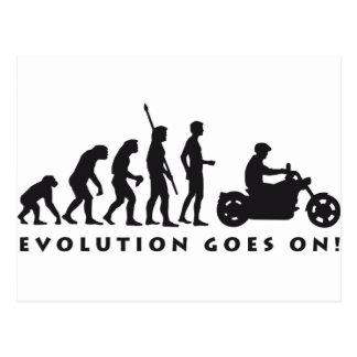 evolution more biker postcard