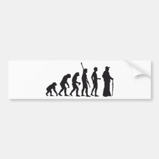 evolution more carpenter bumper sticker