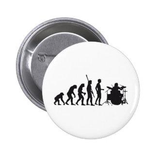 evolution more drummer pinback button