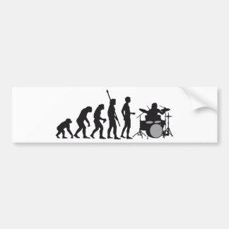 evolution more drummer car bumper sticker