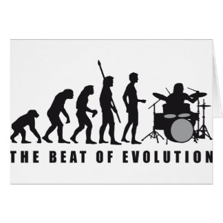 evolution more drummer card
