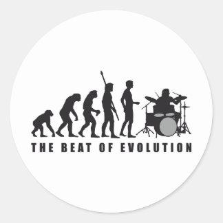 evolution more drummer classic round sticker
