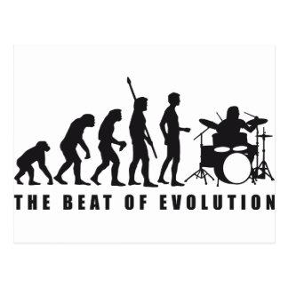 evolution more drummer postcard