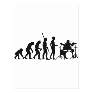 evolution more drummer postcard