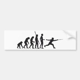 evolution more fencer car bumper sticker