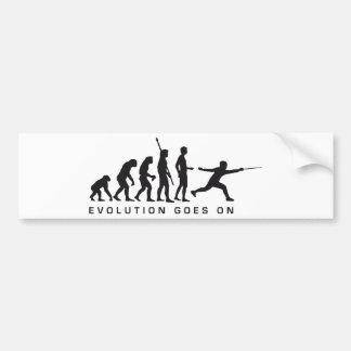 evolution more fencer bumper sticker